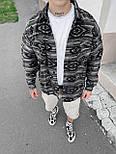 😜Рубашка - мужская теплая рубашка байковая серая / чоловіча рубашка байкова сіра оверсайз, фото 2