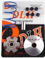 """Вариатор передний (тюнинг)   4T GY6 50   """"DLH""""  (+палец, ролики 6шт, пружина торкдрайвера)"""