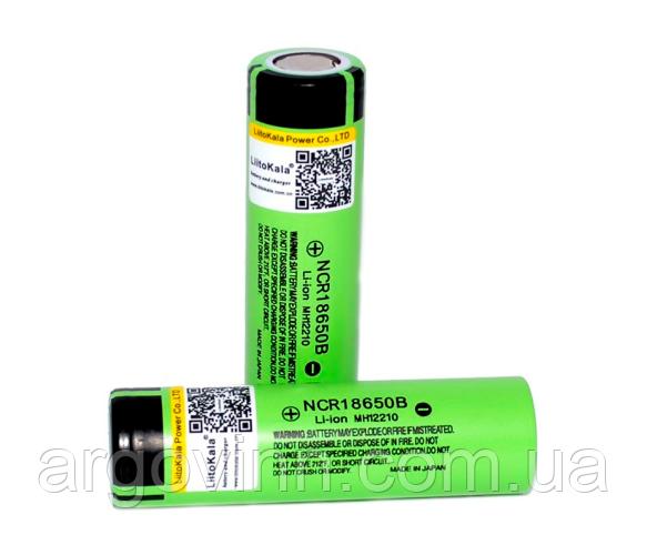 Акумулятор 18650 Li-Ion LiitoKala Lii-34B-JT, 3400mah (3200-3400mah), 3.7V (2.75-4.2V), Green, PVC BOX