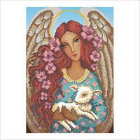 """Схема для вышивки бисером """"Ангел с ягненком"""""""