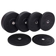 Блины 51мм 25кг (диски) бамперные для кроссфита Zelart Bumper Plates, фото 5