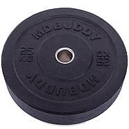 Блины 51мм 25кг (диски) бамперные для кроссфита Zelart Bumper Plates, фото 2