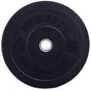 Блины 51мм 25кг (диски) бамперные для кроссфита Zelart Bumper Plates, фото 6