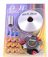 """Вариатор передний (тюнинг)   Honda DIO AF18   """"DLH""""   (ролики латунь 9шт, палец, пр. сцепления)"""
