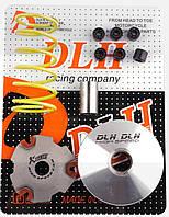 "Вариатор передний (тюнинг)   Suzuki AD100   ""DLH""   (+палец, ролики 6шт, пружина торкдрайвера)"