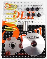 "Вариатор передний (тюнинг)   Suzuki AD50   ""DLH""   (+палец, ролики 6шт, пружина торкдрайвера)"