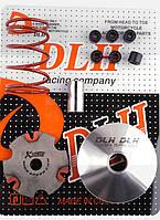 "Вариатор передний (тюнинг)   Suzuki LET'S   ""DLH""   (+палец, ролики 6шт, пружина торкдрайвера)"