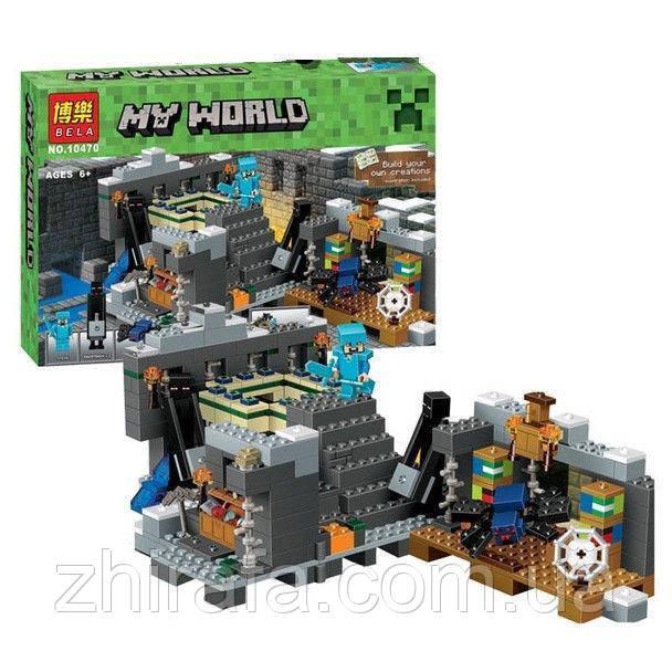 "Конструктор Мій світ Майнкрафт Minecraft ""Портал в Край"" 571 деталь"