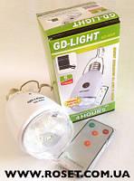 Светодиодная лампа с аккумулятором GD-LIGHT GD-5005 с панелькой солнечной