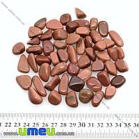 """Авантюрин """"Золотой песок"""" галтовка, размер от 17 до 28 мм (средний), 1 шт (POD-009298)"""