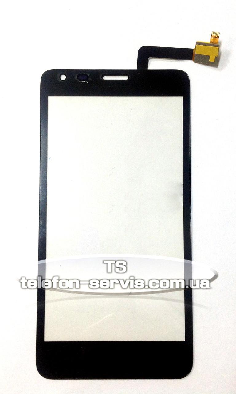 Сенсорный экран для Fly iQ456 Era Life 2, черный