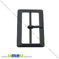 Пряжка металлическая прямоугольная, 60х40 мм, Черная окрашенная, 1 шт (SEW-013877)