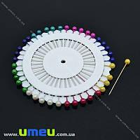 Булавки портновские с шариком, Цветные, 36 мм, 40 шт (SEW-013976)