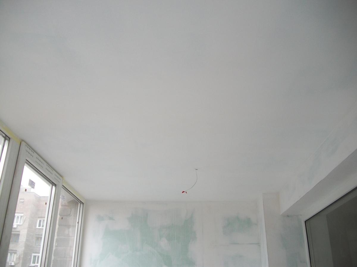 Шпатлевка потолков под покраску (со шлифовкой)