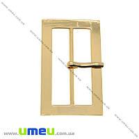 Пряжка металлическая прямоугольная, 75х45 мм, Золотая, 1 шт (SEW-013888)