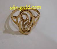 Золотое кольцо женское с фианитами