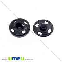 Кнопка пришивная, Черная, 12 мм, 1 шт (SEW-014013)