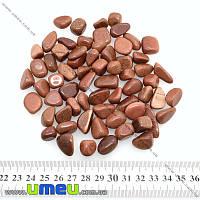 """Авантюрин """"Золотой песок"""" галтовка, размер от 12 до 24 мм (мелкий), 1 шт. (POD-009313)"""