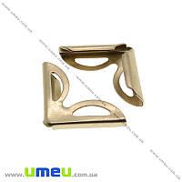 Уголок для блокнота, Розовое золото, 16х16х4,6 мм, 1 шт (OSN-013870)