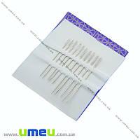 Набор иголок для шитья с увеличенным ушком №2, 10 шт микс, 1 набор (SEW-013918)