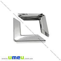 Уголок для блокнота, Темное серебро, 30х30х6,7 мм, 1 шт (OSN-013869)