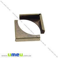 Уголок для блокнота, Античная бронза, 20х20х5,6 мм, 1 шт (OSN-013873)