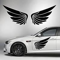 Наклейки КРЫЛЬЯ. Наклейка на авто крылья ангела на двери, на кузов, на капот. Размер 65х29см. Цена за 2шт.!