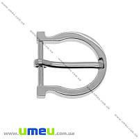 Пряжка металлическая, 22х23 мм, Темное серебро, 1 шт (SEW-013875)
