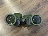 Качественный ударопрочный влагозащищённый бинокль Canon 50x50 чехлом для охоты и рыбалки Зеленый, фото 4