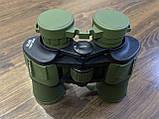 Качественный ударопрочный влагозащищённый бинокль Canon 50x50 чехлом для охоты и рыбалки Зеленый, фото 5