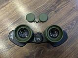 Качественный ударопрочный влагозащищённый бинокль Canon 50x50 чехлом для охоты и рыбалки Зеленый, фото 6