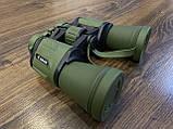 Качественный ударопрочный влагозащищённый бинокль Canon 50x50 чехлом для охоты и рыбалки Зеленый, фото 8