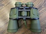 Качественный ударопрочный влагозащищённый бинокль Canon 50x50 чехлом для охоты и рыбалки Зеленый, фото 9