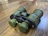 Качественный ударопрочный влагозащищённый бинокль Canon 50x50 чехлом для охоты и рыбалки Зеленый, фото 10