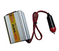Автомобильный инвертор 12V-220V + USB порт, 200 Вт