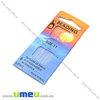 Набор бисерных иголок №11 PONY, 6 шт, 1 набор (UPK-008698)