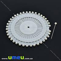 Булавки портновские с шариком, Белые, 36 мм, 40 шт (SEW-013975)