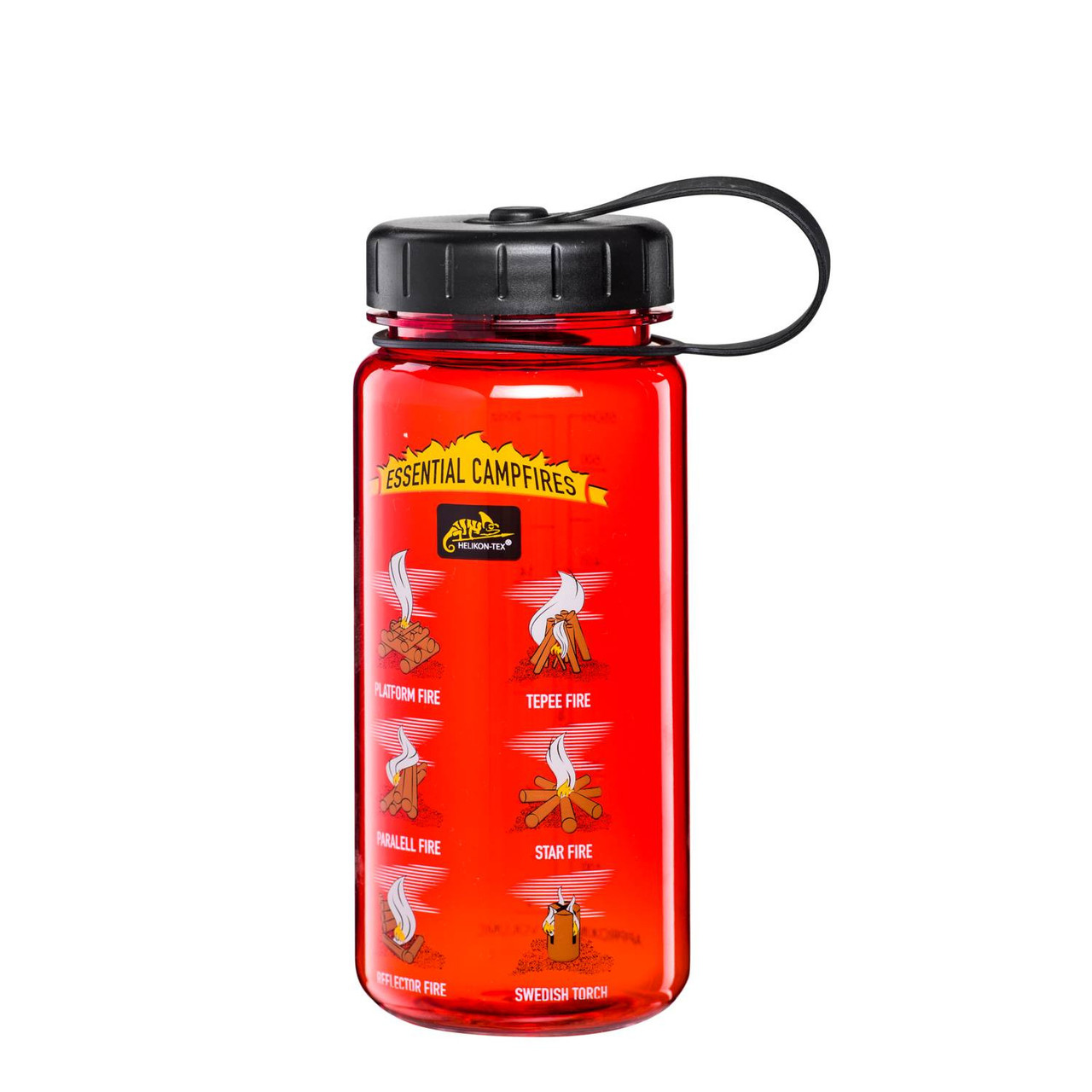 Бутылка фляга Helikon-Tex® TRITAN™ BOTTLE Wide Mouth Campfires (550 ml) - Red/Black