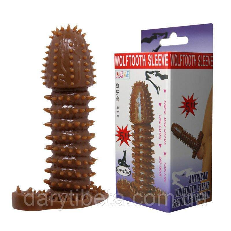 Насадка - презерватив BI-016005-0902S ( коричневая )