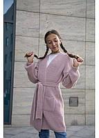 Вязаный объемный кардиган для девочки Ириска рост 122-140 см, фото 1