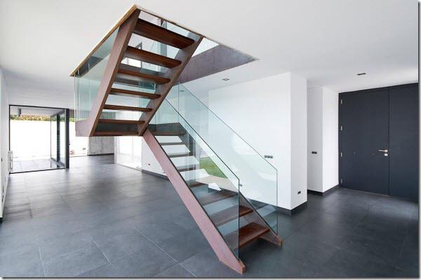 Скляні перила на сходи, перила та огородження для сходів з скла, поручні зі склом, скляні огорожі