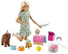 Игровой набор Barbie Вечеринка щенят Barbie Doll and Puppy Party Playset