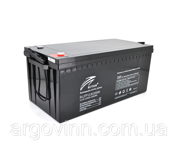 Акумуляторна батарея Ritar LiFePO4 12,8V 200Ah 2560Wh (522 х 240 х 219 (224)) Q1