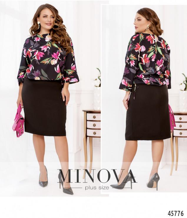 Платье для офиса в деловом стиле Размеры: 50-52, 54-56, 58-60