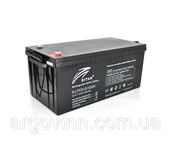 Акумуляторна батарея Ritar LiFePO4 25,6V 100Ah 2560Wh (522 х 240 х 219 (224)) Q1