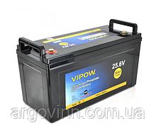 Акумуляторна батарея Vipow LiFePO4 25,6V 50Ah з вбудованою ВМS платою 40A