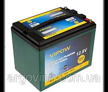 Акумуляторна батарея Vipow LiFePO4 12,8V 50Ah з вбудованою ВМS платою 40A