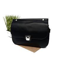 Жіноча сумка через плече клатч кожзам чорний Арт.XBY-1035 black Johnny (Китай)