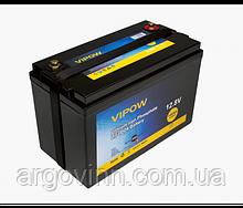 Акумуляторна батарея Vipow LiFePO4 12,8V 100Ah з вбудованою ВМS платою 80A