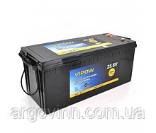 Акумуляторна батарея Vipow LiFePO4 25,6 V 100Ah з вбудованою ВМЅ платою 80A